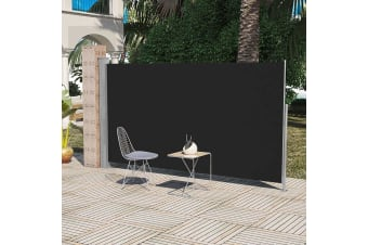 vidaXL Patio Terrace Side awning 180 x 300 cm Black
