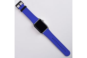For Apple Watch Band (42mm) Series 1  2  3 & 4 Vegan Leather Strap iWatch Blue