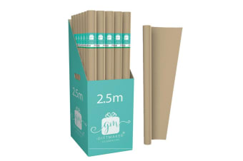 International Greetings Plain Kraft Wrapping Paper Rolls (Pack of 42) (Brown) (One Size)