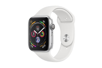 Apple Watch Series 4 (Silver, 44mm, White Sport Band, GPS Only)