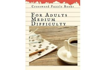 Crossword Puzzle Books For Adults Medium Difficulty