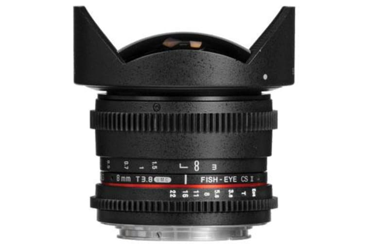 New Samyang 8mm T3.8 UMC Fish-Eye CS II Lens (Nikon Mount) (FREE DELIVERY + 1 YEAR AU WARRANTY)