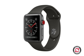 Apple Watch Series 3 Refurbished (Space Grey, 38mm, Grey Sport Band, GPS + Cellular) - A Grade