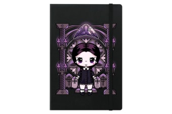 Mio Moon Miss Addams A5 Hard Cover Notebook (Black) (One Size)