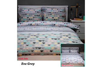 Eve Grey Reversible Quilt Cover Set by Apartmento