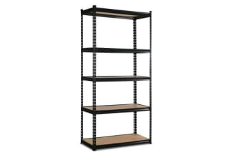 Giantz 5 Tier Industrial Shelving Unit (Black)