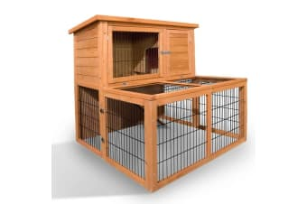Deluxe Rabbit Cage Hutch with UnderRun