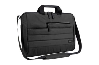 "Targus 15.6"" Topload Notebook Bag Pewter Slipcase - Black"