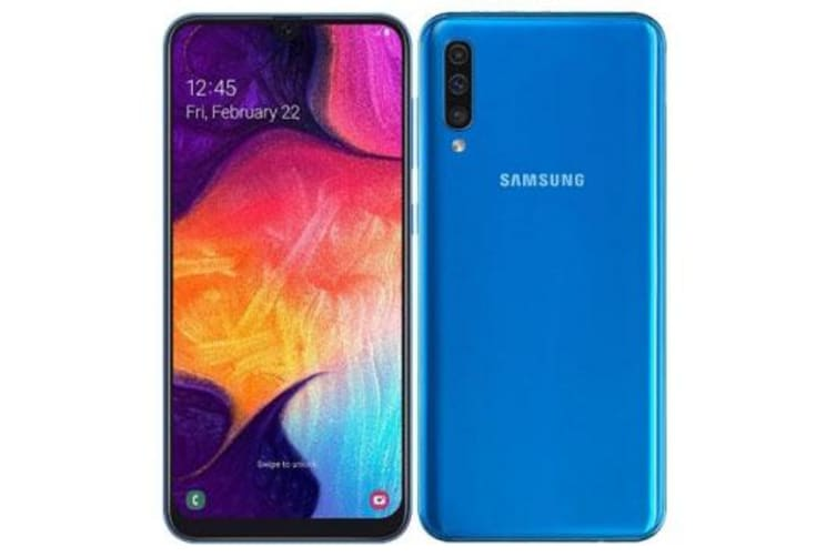 New Samsung Galaxy A50 Dual SIM 64GB 4GB RAM 4G LTE Smartphone Blue (FREE DELIVERY + 1 YEAR AU WARRANTY)
