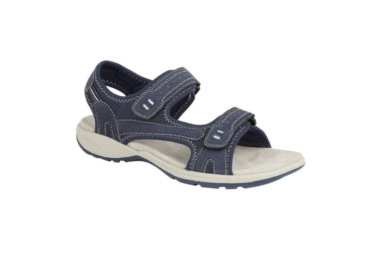 Boulevard Womens/Ladies Touch Fasten Sports Sandal (Navy) (9 UK)