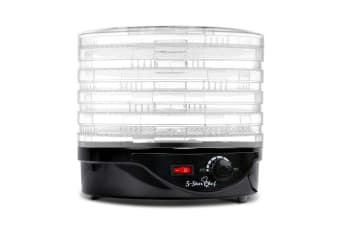 5 Tray Round Food Dehydrator (Black)