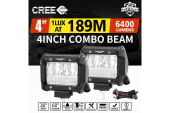 DEFEND 4inch CREE LED Work Light Bar Work Driving Lamp Combo OffRoad 4WD