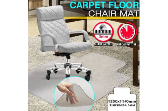 New Office Carpet Chair Mat 1350 x 1140mm Vinyl Protector