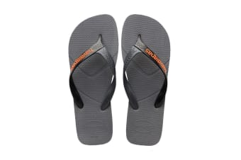 Havaianas Casual Thongs (Steel Grey/Black)