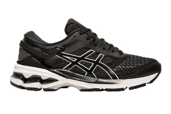 ASICS Women's Gel-Kayano 26 Running Shoe (Black/White, Size  9.5 US)