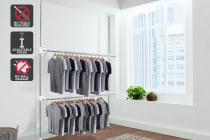Ovela Adjustable Telescopic Clothes Rack