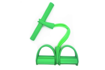 Select Mall Ankle Puller Abdomen Fitness Home Sports Thin Waist Legs Equipment 4 Tube Pedal Pull Rope-Green