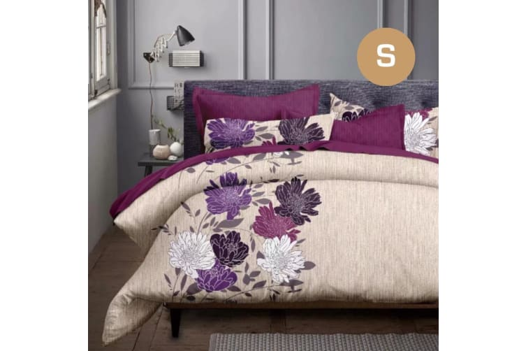 Single Size Float Flora Quilt/Doona Cover Pillowcase Set