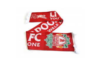 Liverpool FC Official Gold Standard 2018 Jacquard Knit Scarf (Red/White)