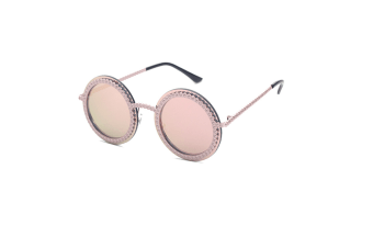 Retro Colorful Floral Boho Round Mirror Sunglasses