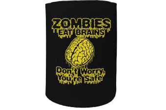 123t Stubby Holder - previews zombies eat brains - Funny Novelty