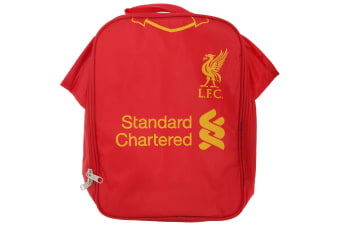 Liverpool FC Childrens Boys Official Insulated Football Shirt Lunch Bag/Cooler (Red)