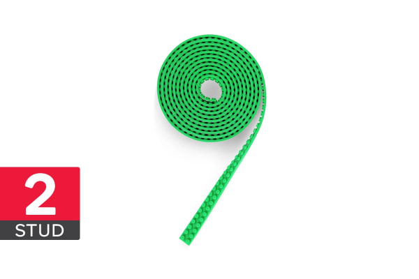 Lego Compatible Building Block Tape (3m, 2 Stud, Green)