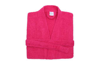 Comfy Unisex Co Bath Robe / Loungewear (Hot Pink)