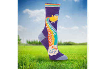 Socks For Ladies Who Sh#t Positivity - Shitting rainbows