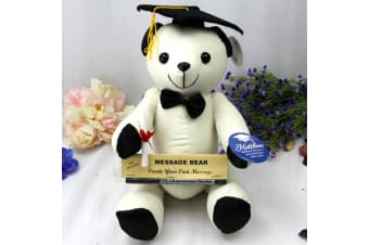 Personalised Graduation Signature Autograph Bear