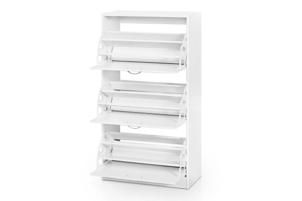 27 Pair Shoe Storage Cabinet-White