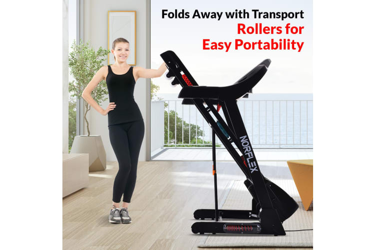 NEW NORFLEX Electric Treadmill Auto Incline Home Gym Exercise Mat Fitness Run