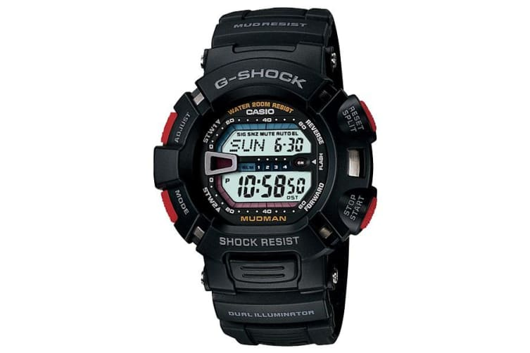 Casio G-Shock MUDMAN Digital Mens Black Watch G-9000-1V