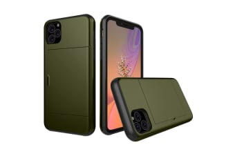 MAXSHIELD Slim Heavy Duty ShockProof Case for iPhone 11 Pro Max-Green