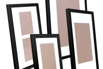 20 Piece Photo Frames Set Wall (Black)