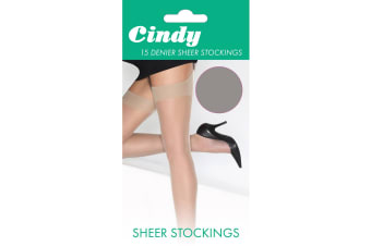 Cindy Womens/Ladies 15 Denier Sheer Stockings (1 Pair) (Diamond)