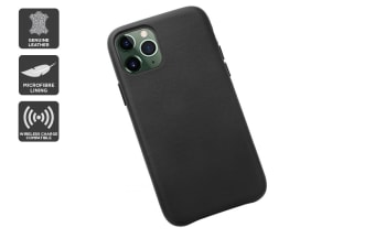 iPhone 11 Pro Max Premium Leather Case (Black)