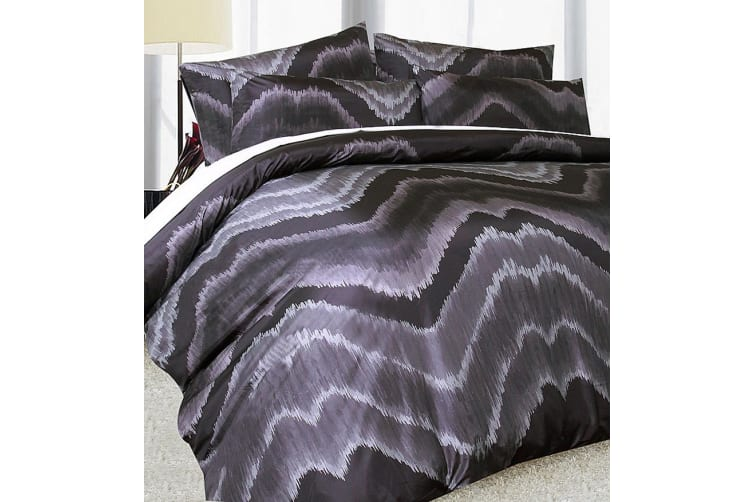 Midnight Quilt cover Set Black KING