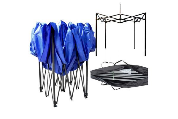 3x3m Party Pop Up Gazebo Marquee Canopy Folding Tent BLUE