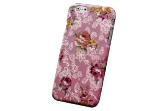 For iPhone 6S PLUS 6 PLUS Case Cute Flower-Pattern Fabric Protective Cover Pink