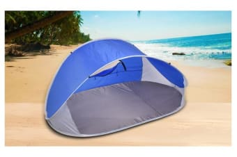 Pop Up BLUE Camping Tent Beach Portable Hiking Sun Shade Shelter