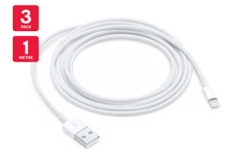 Apple Lightning to USB Cable (1m) - (3 Pack)