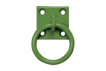 Perry Equestrian Chain Ring On Plate (Pack Of 2) (Forest Green)