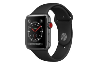 Apple Watch 42mm Series 3 (GPS+Cellular) - Grey Aluminium Case w/ Black Sport Band
