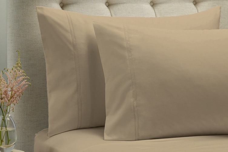 Style & Co 1000TC 100% Egyptian Cotton Essex Bed Sheet Set (Queen, Stone)