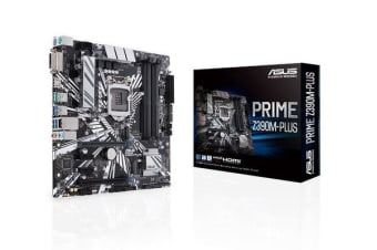 ASUS PRIME Z390M-PLUS Intel LGA 1151 mATX MB OptiMem II, DDR4 4266 MHz, Dual M2 For 8th/9th Gen Pentium/Celeron CPUs