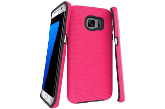 For Samsung Galaxy S7 EDGE Case  Pink Armor Shockproof Protective Phone Cover