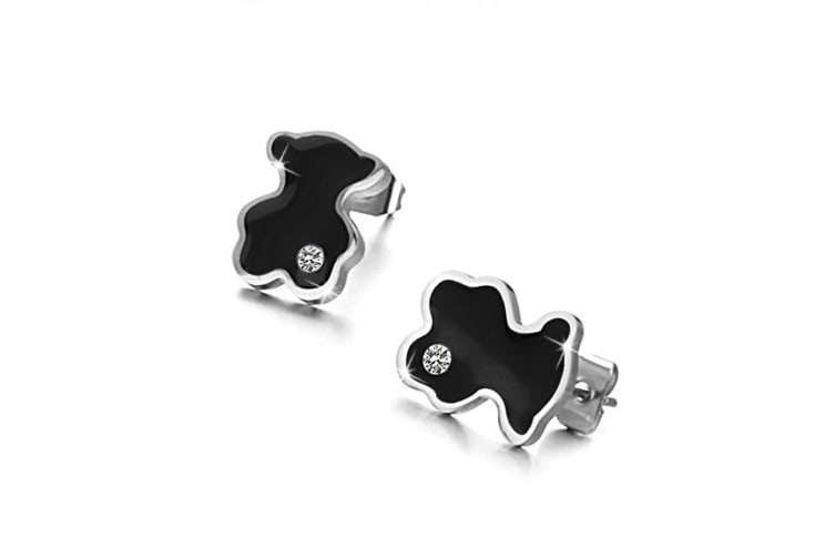 Teez Teddy Earrings-Black