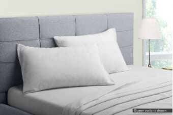 Ovela Flannelette Bed Sheet Set (Light Grey)
