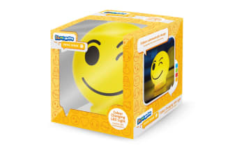 Illumi-Mates Official Childrens/Kids Emoji Colour Changing Bedside Lamp (Wink) (One Size)